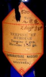 terpine et heroine  laboratoire nadeau montreal  Img_0014