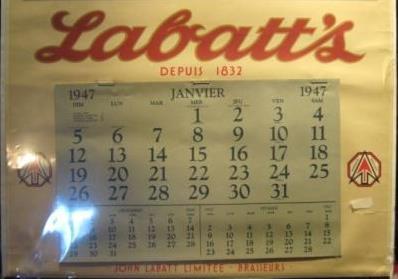 CALENDRIER LABATT`S 1947  Img_0111