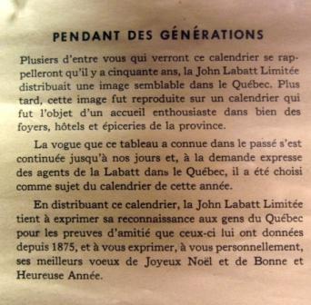 CALENDRIER LABATT`S 1947  Img_0112