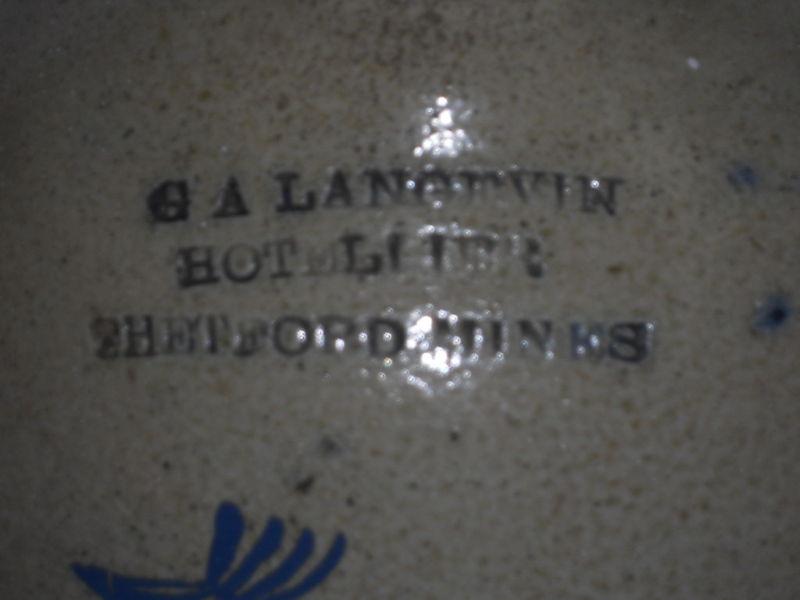 Hotellier de Thetford Mines G. A Langevin  Langev11