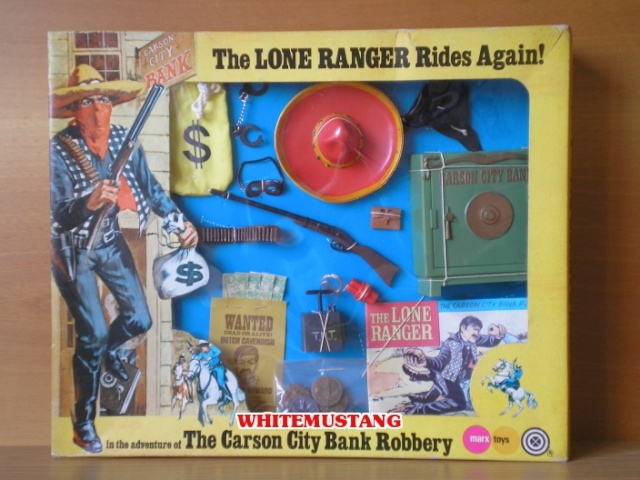 COLLEZIONE DI WHITEMUSTANG 2 - LONE RANGER WINDOW BOXED ADVENTURE SETS BY MARX 7etyza10