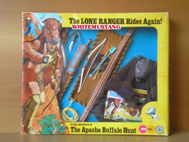 COLLEZIONE DI WHITEMUSTANG 2 - LONE RANGER WINDOW BOXED ADVENTURE SETS BY MARX Jh4td610