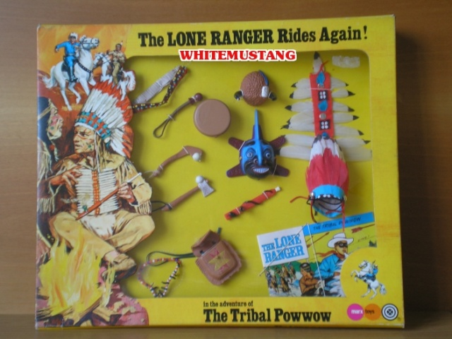 COLLEZIONE DI WHITEMUSTANG 2 - LONE RANGER WINDOW BOXED ADVENTURE SETS BY MARX Lokium10