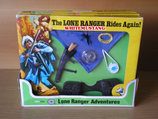COLLEZIONE DI WHITEMUSTANG 2 - LONE RANGER WINDOW BOXED ADVENTURE SETS BY MARX Nxscuv10