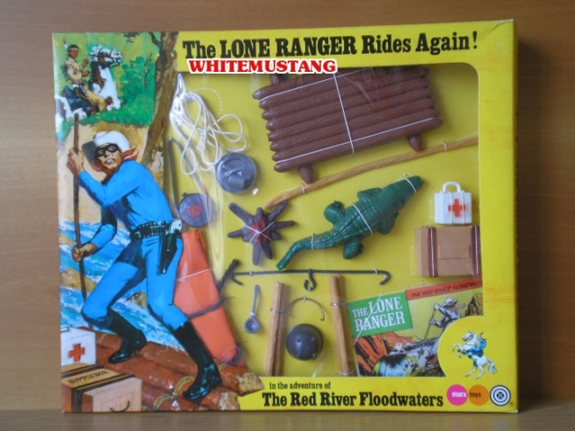 COLLEZIONE DI WHITEMUSTANG 2 - LONE RANGER WINDOW BOXED ADVENTURE SETS BY MARX O5hetv10