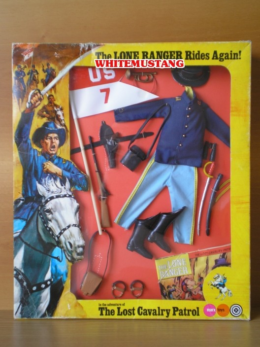 COLLEZIONE DI WHITEMUSTANG 2 - LONE RANGER WINDOW BOXED ADVENTURE SETS BY MARX Ytngqu10