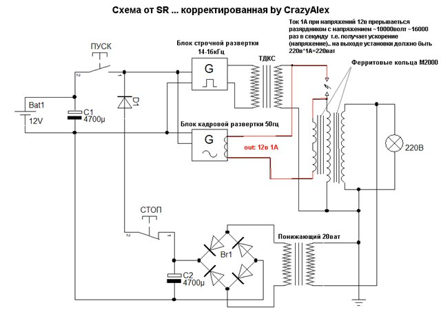 Раздел для самостоятельной сборки генератора.(схемы, чертежи, описания работы) Ddddzd10