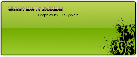 Glossy Empty Banners Entry10