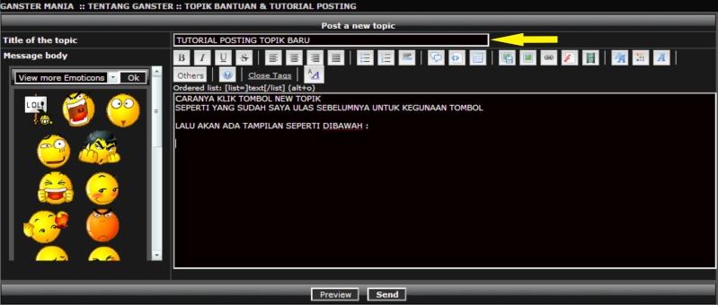 TUTORIAL POSTING TOPIK BARU Subjec10