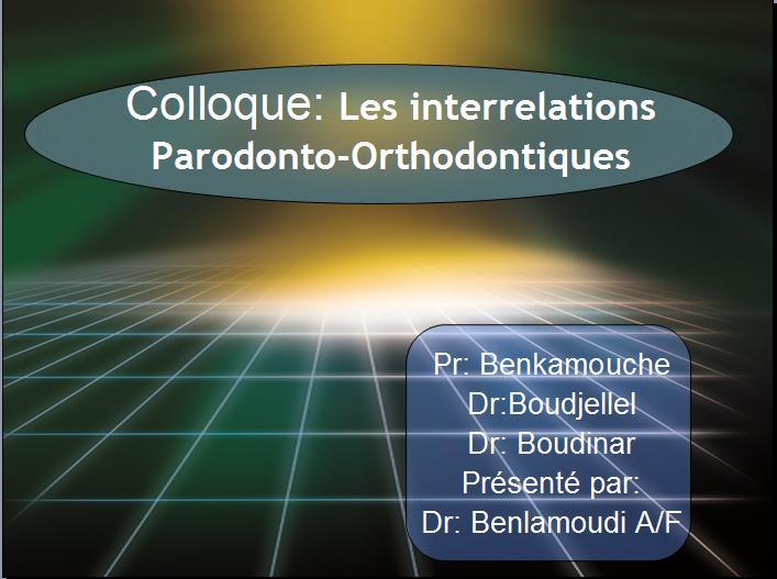 Les interrelations Parodonto-Orthodontiques 210