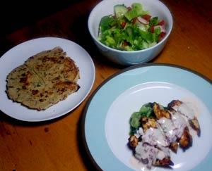 Dukan diet curry night - with 'naan' bread too! Dukan-21