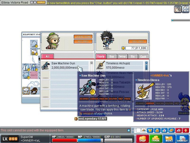 msLegendary new skills v80KoC Maple033