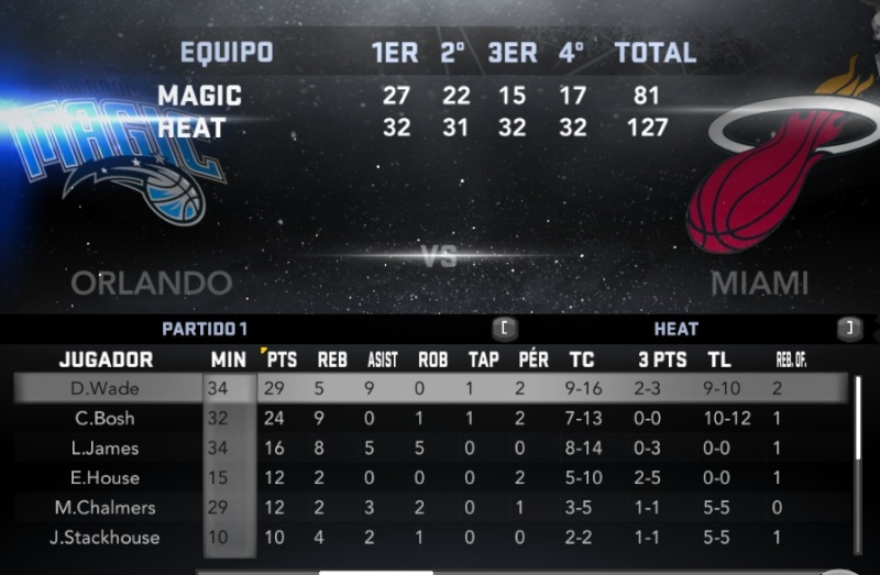 Orlando vs. Miami (PARTIDO 2) Nba2k118