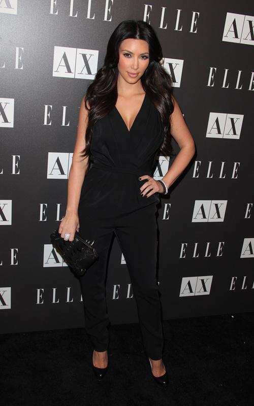 Kim Kardashian en la Fiesta de ELLe Kim-ka14