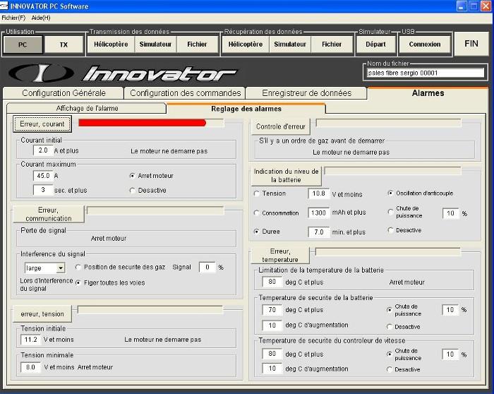 Les différentes alarmes actives du soft Error_10