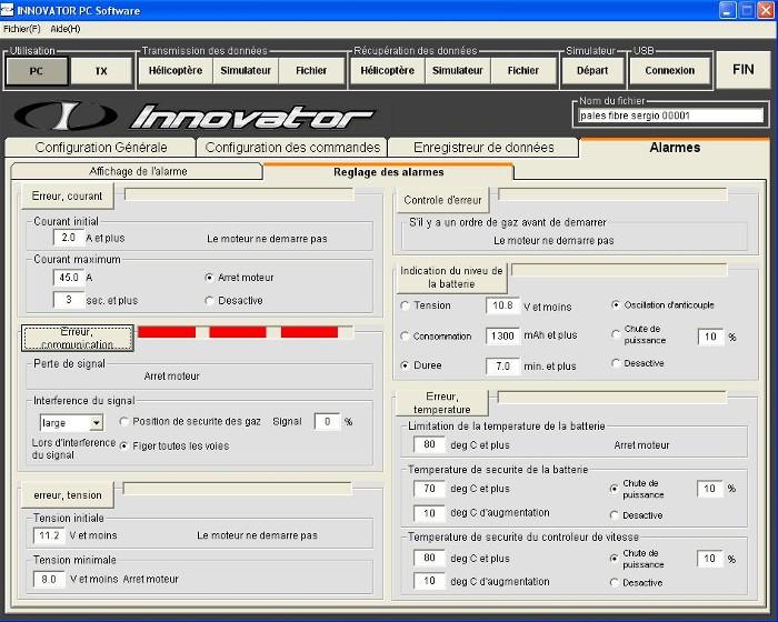 Les différentes alarmes actives du soft Error_11