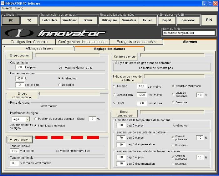 Les différentes alarmes actives du soft Error_12