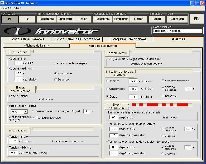 Les différentes alarmes actives du soft Error_13