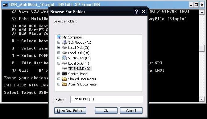 How to create a Multiboot USB with Windows XP + Hiren's BootCD 10.4 + Windows 7 Setup Choose10