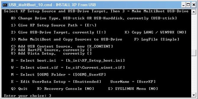 How to create a Multiboot USB with Windows XP + Hiren's BootCD 10.4 + Windows 7 Setup Makemu10
