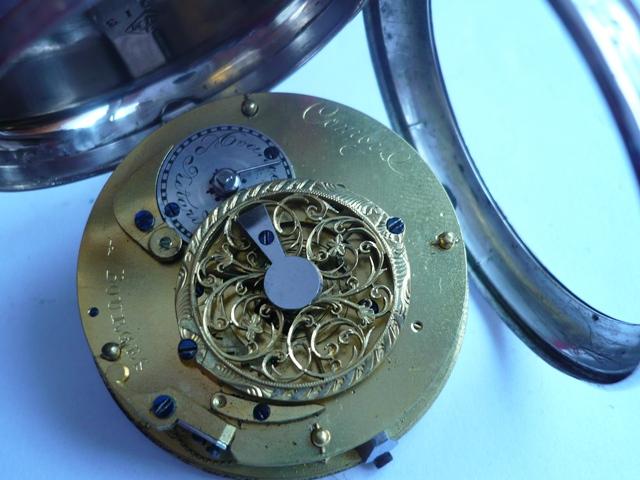 Montre de poche à échappement à verge et cadran polychrome 3_p10110