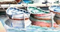 Méthode pour dessiner les pointus , bateaux de Méditéranée , pointus de l'avant comme de l'arrière . Datail10