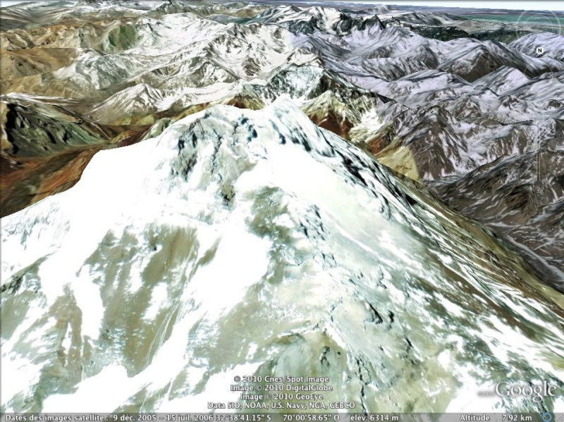 Les points culminants du monde vus avec Google Earth Argent11