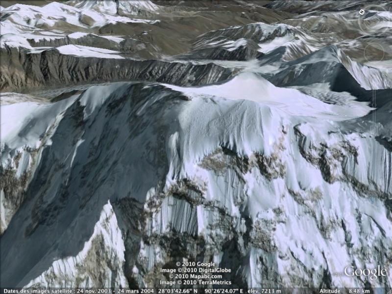 Les points culminants du monde vus avec Google Earth Bhouta11