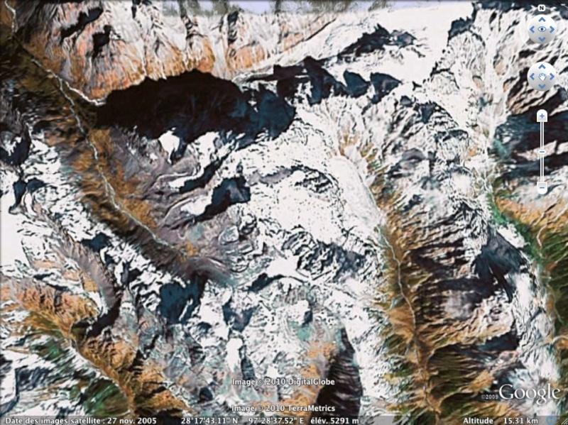 Les points culminants du monde vus avec Google Earth - Page 2 Birman10