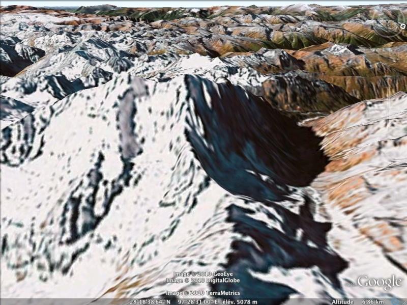 Les points culminants du monde vus avec Google Earth - Page 2 Birman11