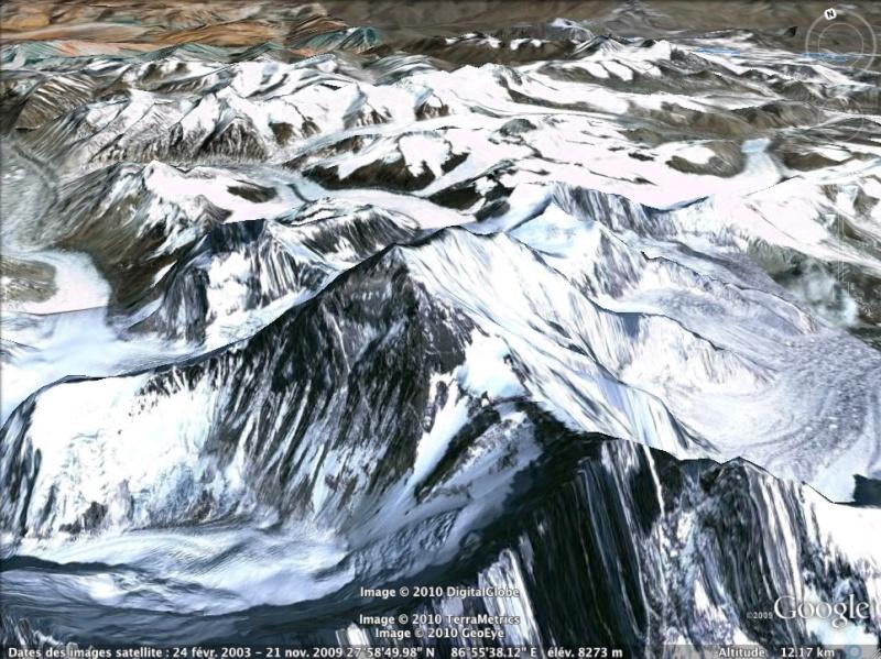 Les points culminants du monde vus avec Google Earth Chine_11