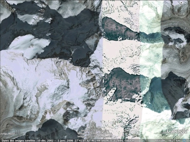 Les points culminants du monde vus avec Google Earth Inde_k10