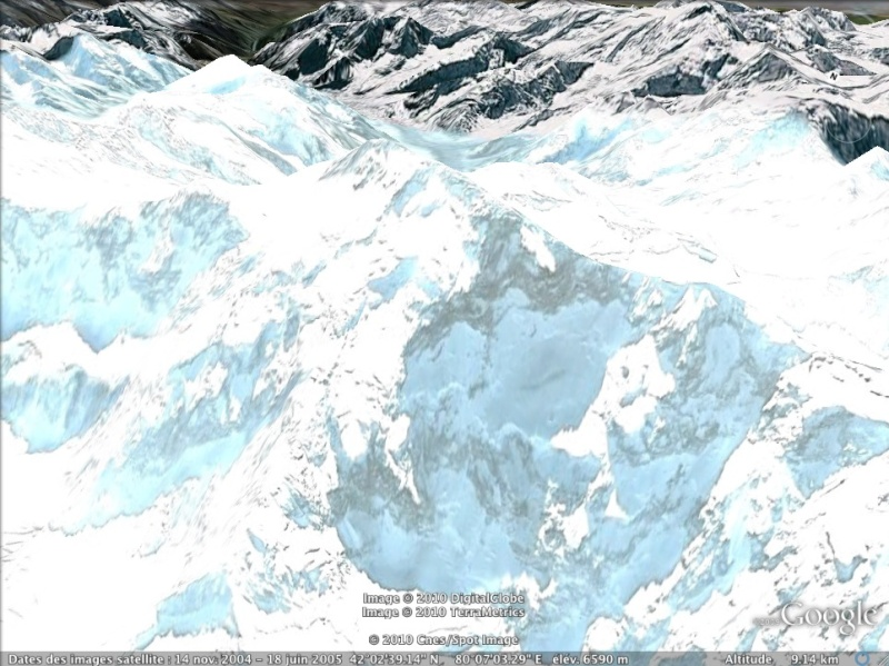 Les points culminants du monde vus avec Google Earth Kirghi11