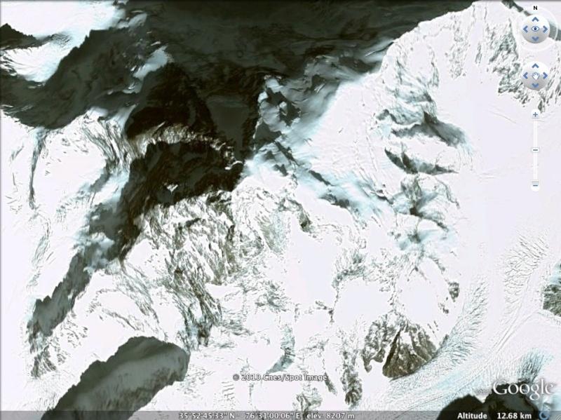 Les points culminants du monde vus avec Google Earth Pakist10