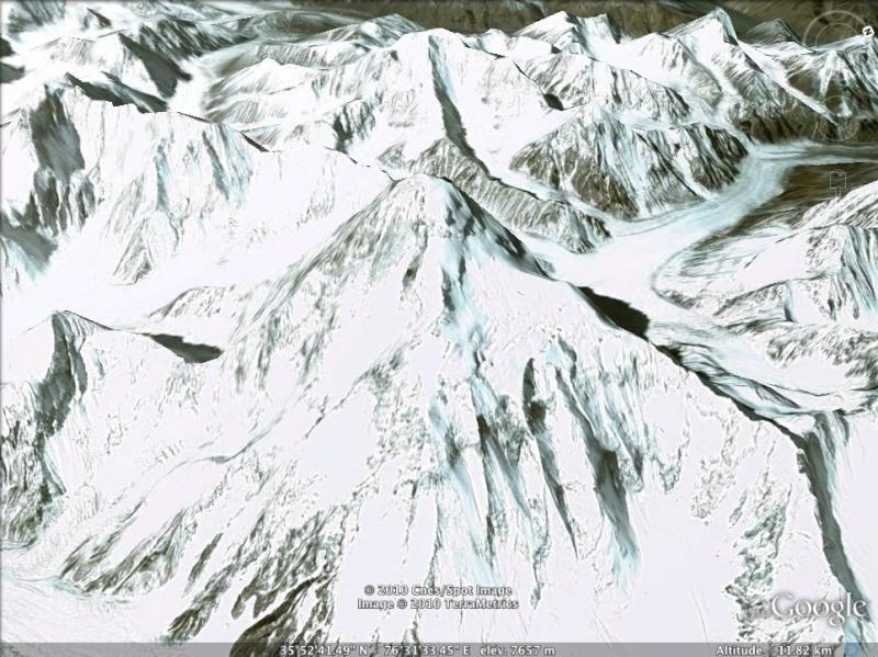 Les points culminants du monde vus avec Google Earth Pakist15