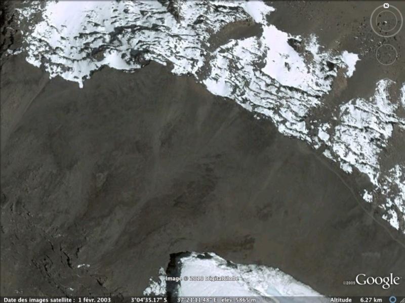 Les points culminants du monde vus avec Google Earth - Page 2 Tanzan10