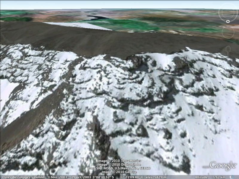 Les points culminants du monde vus avec Google Earth - Page 2 Tanzan11
