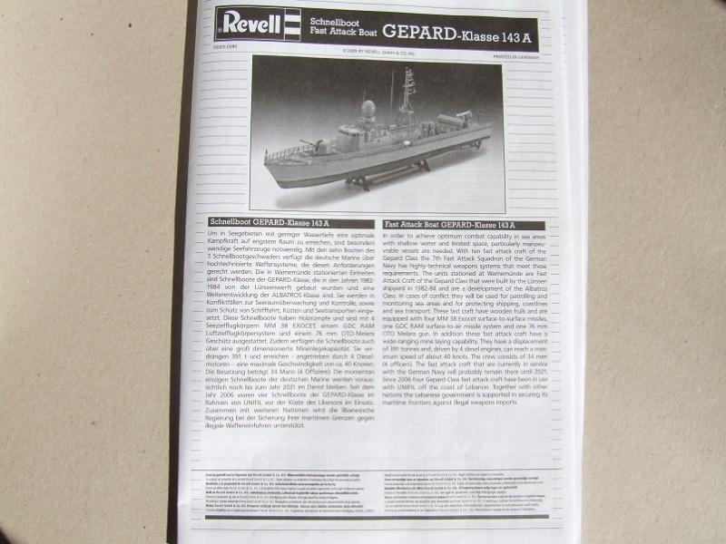 [Revell] Fast Attack Boat GEPARD-KLASSE (143A) 1/144 Dscf2518