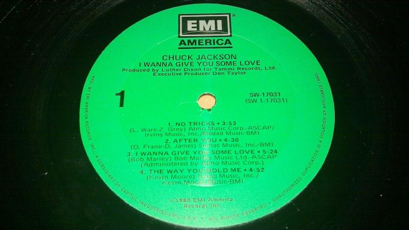 Chuck jackson - I wanna give you some love 1980 EMI america 20090112