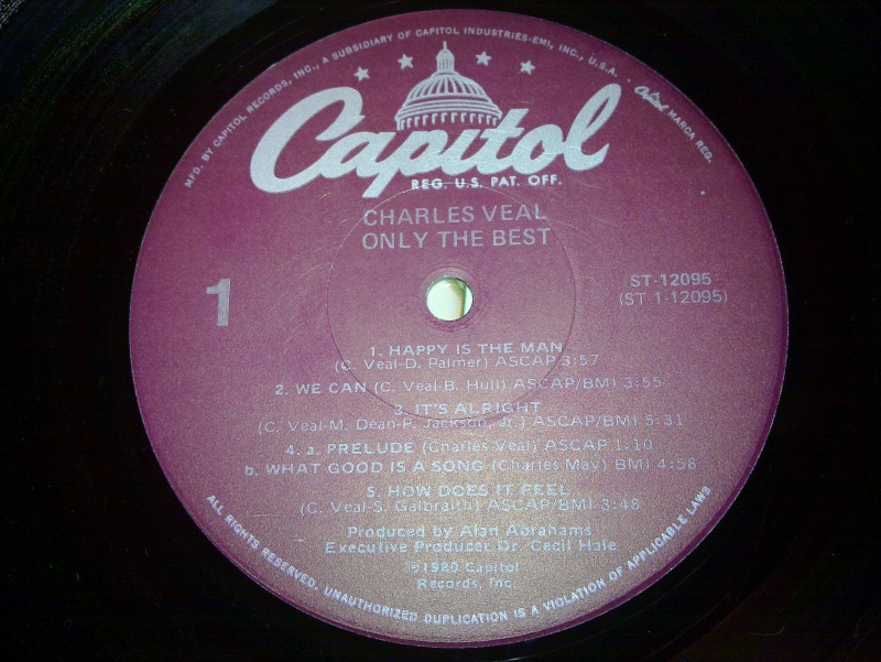 """Charles Veal - only the best """" CAPITOL 1980 20090120"""