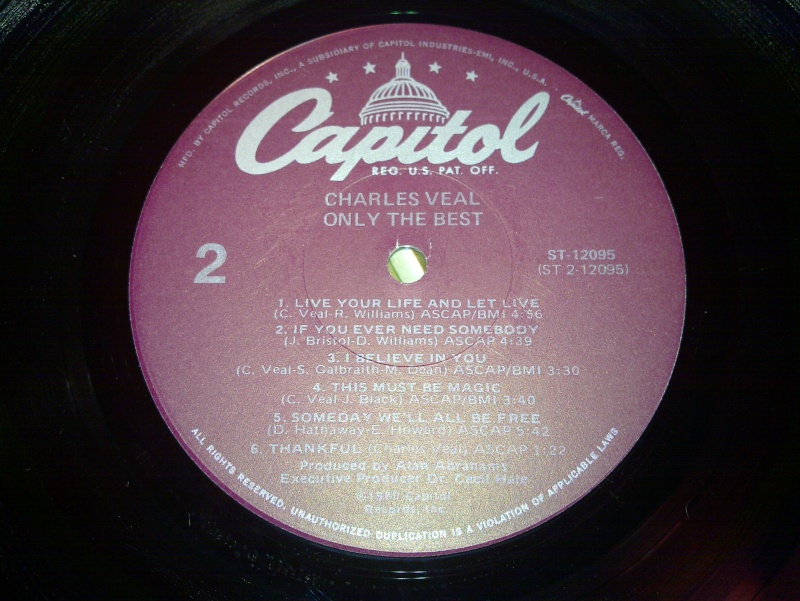 """Charles Veal - only the best """" CAPITOL 1980 20090121"""