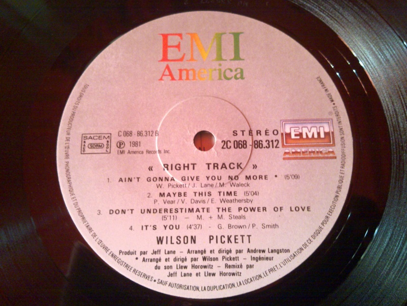 Wilson pickett - RIGHT TRACK 1980 emi 20090124