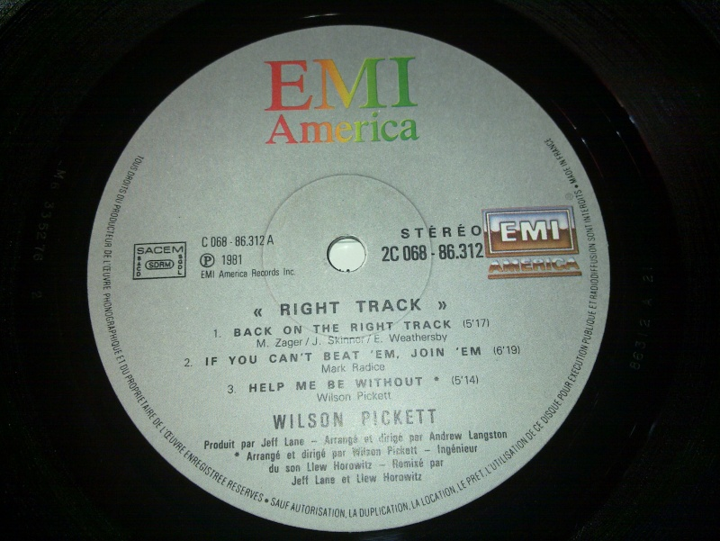Wilson pickett - RIGHT TRACK 1980 emi 20090125