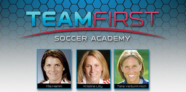 Mia Hamm, Kristine Lilly and Tisha Venturini-Hoch - TeamFirst Soccer Academy Teamfi12