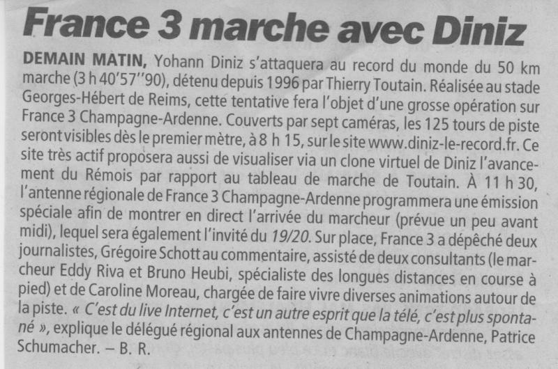 DINIZ s'attaque au record du monde du 50000 de TOUTAIN Temps_13