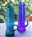 Alsterfors (?) Tapering Blue Glass Vase 1970's Dscf6210