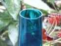 Alsterfors (?) Tapering Blue Glass Vase 1970's Dscf6214