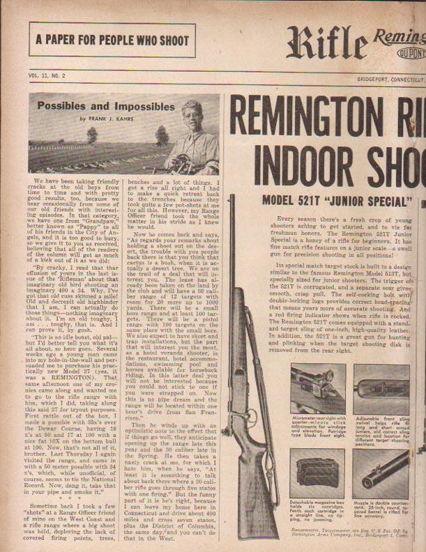 US Small Bore (22lr) History : Remington: 513 T, Mod 37, 40x  VS  Winchester 75, 52 Ar481711