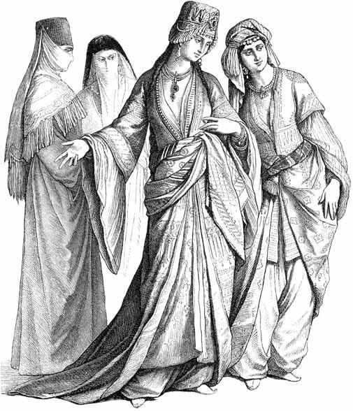 15th century Turkish Women's Clothing Costum10