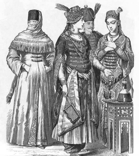 15th century Turkish Women's Clothing Costum11